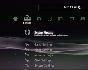 system update selection