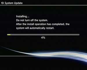 Sony PS3 System update